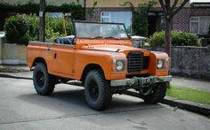 Orange Landy - what a great beach truck.