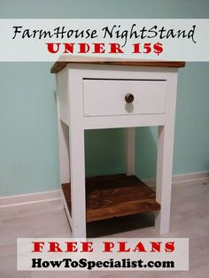 How to build a farmhouse nightstand | HowToSpecialist - How to Build, Step by Step DIY Plans