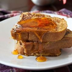 Pumpkin Pie French Toast is an easy fall treat.