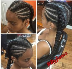 Two Braids Hairstyle Black Women, Feed In Braids Hairstyles, Natural Braided Hairstyles, Black Girl Braided Hairstyles, Braided Ponytail Hairstyles, Natural Hairstyles For Kids, Baddie Hairstyles, Braids For Black Hair, Little Girl Hairstyles