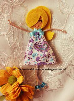 Quecas de Fieltro / Dolls felt Mod41 http://accesoriosdulcescaramelos.blogspot.com.es/search/label/Mu%C3%B1ecas%20%28Quecas%20de%20Fieltro%29