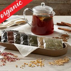 Culinary Kit: Organic Tea Blending and other fruits & gifts at CherryMoonFarms.com
