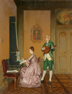 Albert Glibert (1832-1917), Interior With Musicians - PInterest