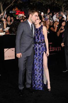 Kristen Stewart and Robert Pattinson at event of The Twilight Saga: Breaking Dawn - Part 1