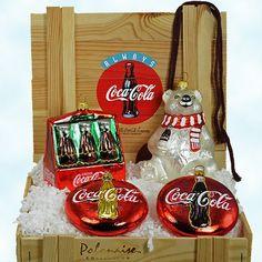 Coca Cola Christmas, Christmas Time, Coca Cola Addiction, Coca Cola Store, Coca Cola Bear, Always Coca Cola, World Of Coca Cola, Blown Glass Christmas Ornaments, Xmas Tree Decorations