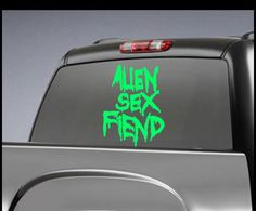Alien Sex Fiend  Band Decal - Music Band Stickers - Rock Band Vinyl Decals