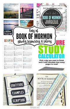 LDS Lane: Creative Book of Mormon Study Resources