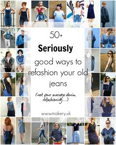 uk rounds up clever uses to turn old denim jeans into new garments Fashion Advice, Diy Fashion, Fashion Trends, Old Jeans Recycle, Patched Jeans, Denim Jeans, Denim Purse, Blue Jeans, Sewing Alterations