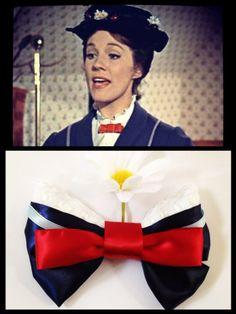 Classic Mary Poppins Inspired Hair Bow by 500daysofdisney on Etsy, $8.25