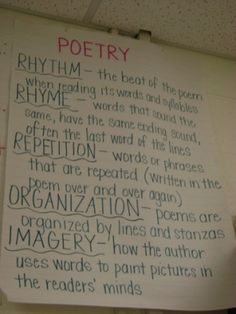 Poetry anchor chart by antrisha