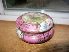 Antique Porcelain Powder Box Trinket box by TheInstantMemory