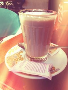 The Portuguese latte #drinks #lisbon #portugal #food #summer #holiday #travel #sun #coffe #goodlife