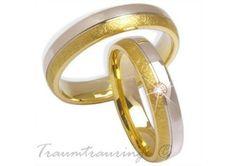 Gold Trauringe Eheringe 333 Gelbgold-Weissgold von Juwelier-Schmuck auf DaWanda.com