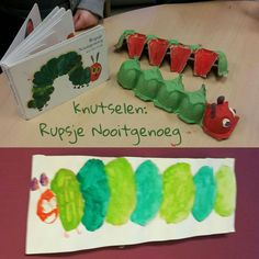 Rupsje Nooitgenoeg knutselen eierdoos verf #leukmetkids Very Hungry Caterpillar, Let's Create, Creative People, Diy For Kids, Kids Playing, Plastic Cutting Board, Diy Crafts, Fruit, Blog