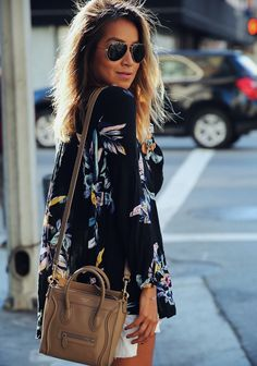 Flowy floral jacket/blouse. Long fitted sleeves