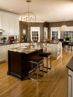 Kitchen, White Cabinets For Kitchen With Chocolate Brown Wall Paint: How to Choose Best Color to Paint Kitchen Cabinets