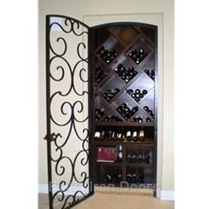 I love this wine cellar and door!