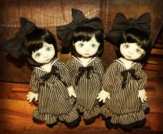 Wendy Weird dolls created by Nikki Britt, outfits created by Doll Fashions by Sweet Creations.  www.oursweetcreations.com