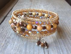 Fall Sparkle Multi Strand Memory Wire Wrap by McHughCreations