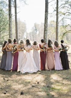 Fall bridal party. photo by eric kelly  For @Kara Morehouse Morehouse Morehouse Morehouse E. thought you'd like the colors