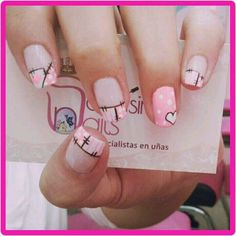 Manicuras Love Nails, Gorgeous Nails, My Nails, Hello Nails, Valentine Nail Art, Gelish Nails, French Tip Nails, Holiday Nails, Manicure And Pedicure