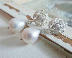 Perlenstecker- 925 Silber von Serafina auf DaWanda.com