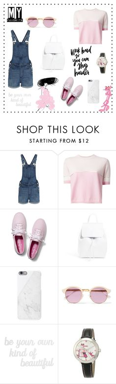 """""""Alice's spring creations: Beauty and the Pink"""" by alicepippawilliams ❤ liked on Polyvore featuring Madewell, Fendi, Keds, Mansur Gavriel, Native Union, Sheriff&Cherry, WALL and PBteen"""