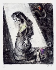 Marc Chagall, Jeremiah in the Pit (from the Bible Series), 1958