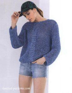 Free knitting pattern pullover