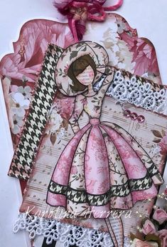 Prima Paper Dolls, Punch Art, Card Tags, Tag Art, Happy Planner, Card Making, Creations, Paper Crafts, Scrapbook