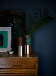 Polished and Oxidized metals in the True Colors vase by Lex Pott for &Tradition