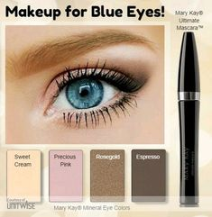 Hello blue eyes! Find out what colors look best for you! It's all here with Mary Kay mineral eye colors. www.marykay.com/jflis.