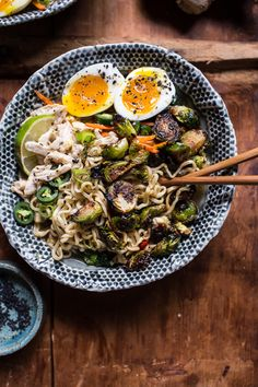 30 Minute Chicken Ramen with Miso Roasted Brussels Sprouts + Ginger Butter   halfbakedharvest.com @hbharvest