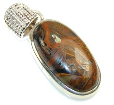 Gentle Iron Tiger's Eye Sterling Silver Pendant – Jewelry