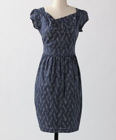 Take a look at this Blue Slats Skip A Beat Dress by Down East Basics on #zulily today! $25.99 GREAT dress!