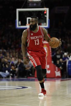 James Harden in action during an NBA basketball game against the Philadelphia 76ers, in Philadelphia Rockets 76ers Basketball, Philadelphia, USA – 27 Jan 2017 (REX/Shutterstock)