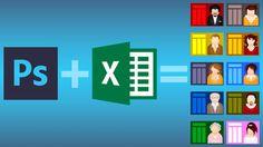 Aprende a automatizar el diseño en Photoshop con otros programas: Bloc de notas, Notepad, Excel, Google Sheets, Numbers, Calc, etc.