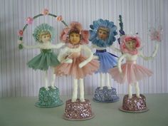 These are my spun cotton flower girl ornaments just in time for Mothers Day. I love my flower garden and watching all the perennialsstartin...