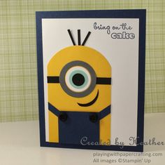 Playing with Papercrafting: Just a Minion, Happy Birthday!