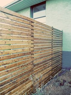 Modern Horizontal Fence #diy