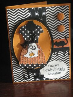 halloween all dressed up Stampin' Up Card