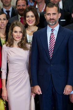 """Spanish Prince Felipe and Princess Letizia attend the """"StartUp Competition"""" awards on 11.10.13 in Madrid, Spain."""