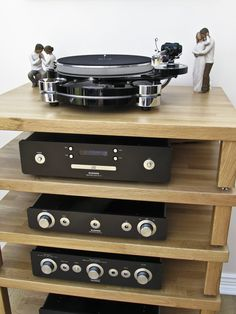 A truly musical Hi Fi system, combining a beautiful Turntable and Best-of-British built electronics with a statuesque pair of floor standing Focal speakers. A system that sounds as impressive as [. Focal Speakers, Audio Rack, Hi Fi System, Hifi Audio, Audiophile, Sound & Vision, Wine Rack, Flooring, Cabinet