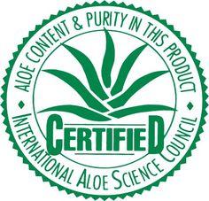 Certified aloe vera