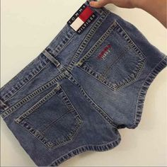 Tommy Hilfiger Jean Shorts Washed out TH jean shorts. In good condition! Also the tag says size 9, but I'm about a 3-4 and they're just a little big on me.        *cheaper price on another a p p Tommy Hilfiger Shorts