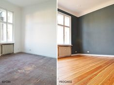The Truth Behind Sanding Floors (& Our Finished Floor Reveal) - Little House On The Corner Bedroom Wooden Floor, Bedroom Flooring, Cheap Vinyl Flooring, Wooden Flooring, Laminate Flooring, Diy Log Store, Sand Floor, Small Home Offices, Bedroom Wall Colors