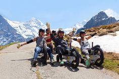 Summer Gemel - exclusive summer sledding in the Swiss Jungfrau Region - proper sledding in summer - who said you need snow? Grindelwald, Go Kart, Motorcycle, Vehicles, Summer, Travel, Virgo, Pilots, Karting