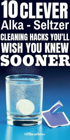 You already know alka seltzer tablets can be your best friend in relief from heartburn or indigestion. These Alka Seltzer Cleaning hacks can make them your best friend in cleaning too. Deep Cleaning Tips, Household Cleaning Tips, Cleaning Recipes, House Cleaning Tips, Natural Cleaning Products, Cleaning Solutions, Spring Cleaning, Borax Cleaning, Daily Cleaning