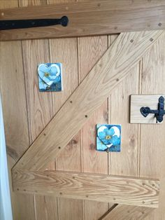 Door Hooks With Removable Hearts To Conceal The Fixings.