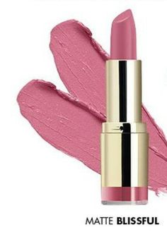 MILANI COLOR STATEMENT lipstick in ' Matte Blissful.' #62 . Beautiful rich pigment and soft lilac/pink color crème. Slight vanilla scent and matte for a sophisticated look,  excellent quality for $4.99 at Kmart, CVS.